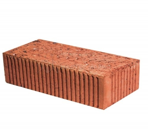 Кирпич рядовой керамический полнотелый одинарный рифленый