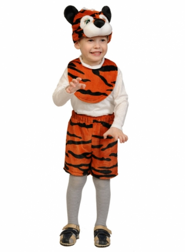 Карнавальный костюм Тигрёнок Лайт (манишка, шорты, маска) 3-5 лет