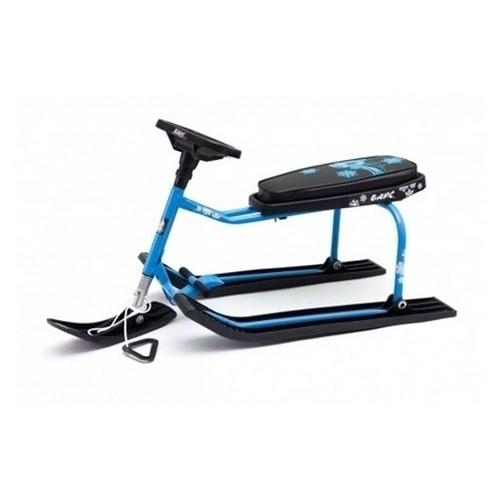 Снегокат Барс черный с голубой рамой - 002