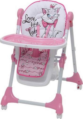 Стульчик для кормления Polini Disney Baby 470 Кошка Мари Розовый