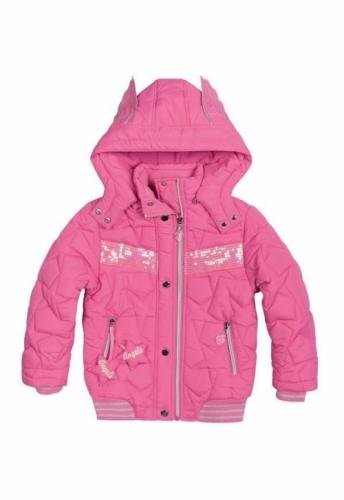 Куртка для девочек, размер 8, демисезонная, розовая Pelican GZWL484