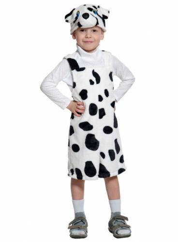 Карнавальный костюм Далматин ткань-плюш (полукомбинезон, маска) 3-6 лет