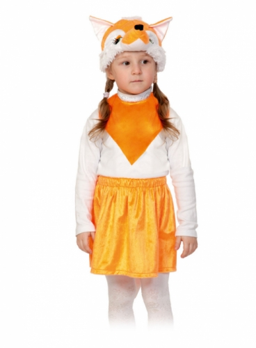 Карнавальный костюм Лисичка Лайт (юбка, маска, манишка) 3-5 лет