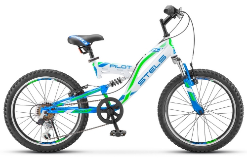 Велосипед Stels Pilot-260, белый/синий, рама 20
