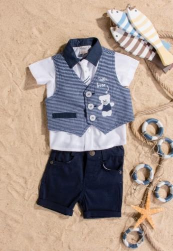 Костюм для мальчика, размер 12 месяцев, темно-синий, Bebus