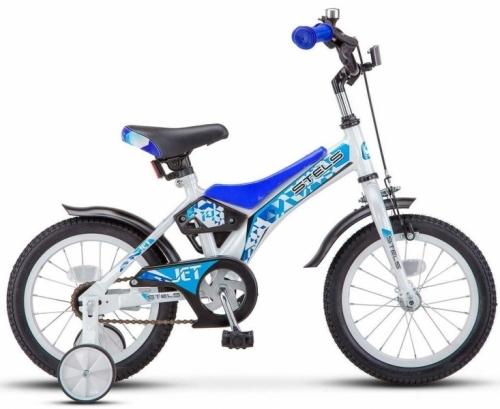 Велосипед Stels Jet, белый/синий, рама 14