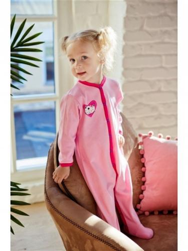 Комбинезон Lucky Child LOVE (арт. А6-101/розовый),размер 26 (80-86)
