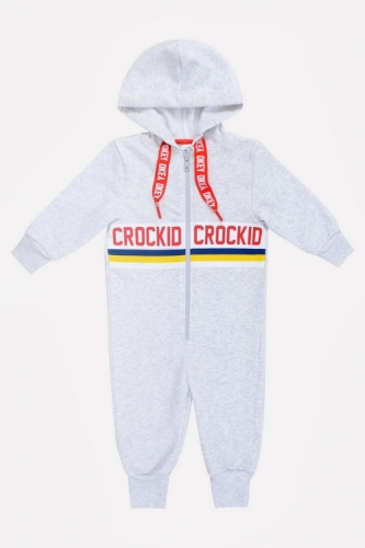 Комбинезон Сrockid светло-серый меланж, размер 110