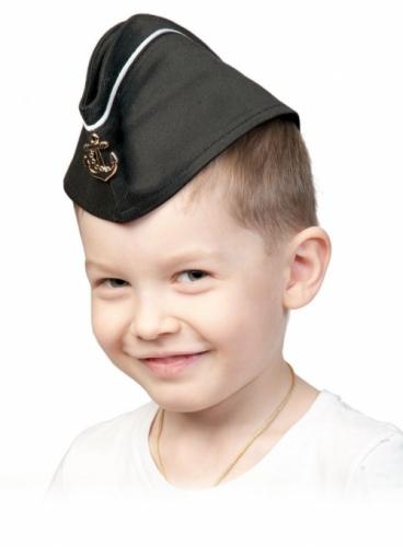 Пилотка ВМФ с кантом карнавальная детская