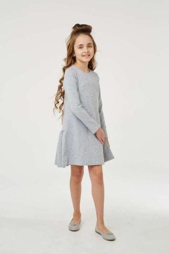 Платье для девочки размер 128, Звезды Серый меланж, УМКА