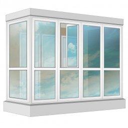 Остекление балкона ПВХ Rehau в пол с отделкой вагонкой с утеплением 3.2 м Г-образное
