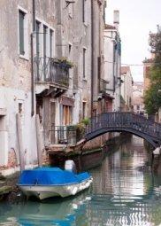 Декор Береза-керамика Азалия Венеция 8 синий 25x35
