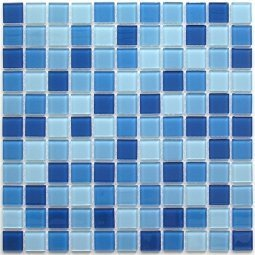 Мозаика Bonаparte Navy blu голубая глянцевая 30x30