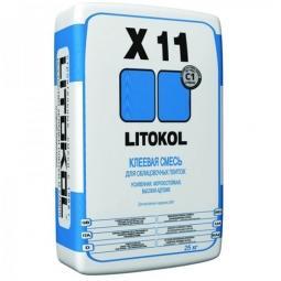 Клей Litokol X11 плиточный морозостойкий усиленный для наружных и внутренних работ 25 кг