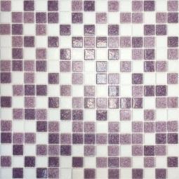 Мозаика Elada Econom на сетке MC110 бело-сиреневый 32.7x32.7