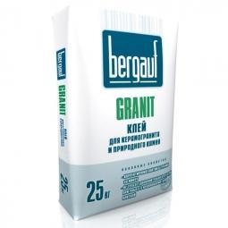 Клей Bergauf Granit для керамогранита и природного камня 25 кг
