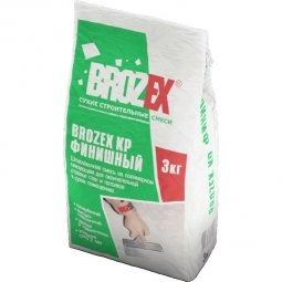 Шпатлевка Brozex КР финишная полимерная белая 3 кг