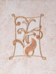 Декор Шаxтинская Плитка Каменный Цветок Коричневый 04 25x33