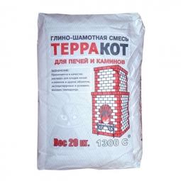 Кладочная смесь Терракот печная глино-шамотная с содерж. шамота каолинового 99,9 %, 20 кг