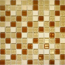 Мозаика Elada Crystal+Stone CTB 53 карамельный микс 32.7x32.7
