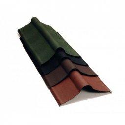 Коньковый элемент Ондулин коричневый длина - 1м, полезная длина 0,85 м