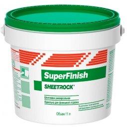 Шпатлевка готовая Sheetrock СуперФиниш (18кг - 11л)