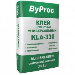 Клей для плитки ByProc KLU-330 3кг