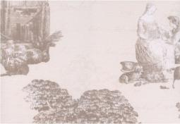 Панно Керамин Пастораль 3 тип 1 Бежевый 40x27,5
