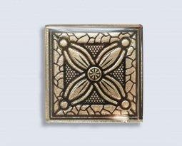 Декор Орнамент Универсальные вставки для пола Касабланка Gold 1 6.7x6.7