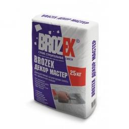 Штукатурка Brozex Фасад Деко Шагрень на цементной основе белая 25 кг