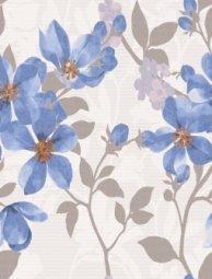 Плитка для стен Lasselsberger Натали Флауэр голубой 25x33