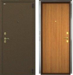 Стальная дверь Гардиан Фактор К медный антик/светлый орех правая 2 замка  980x2050 мм