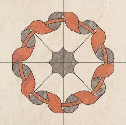 Панно TREND Rosone Bramante TR 01, TR 03, TR 05 80x80 матовый
