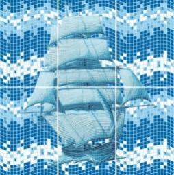 Панно Cersanit Reef C-RF2K036 Синий 60X60
