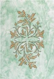 Декор Керамин Атланта 4Н Зелёный 40x27,5