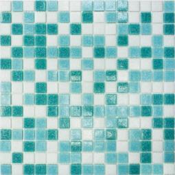 Мозаика Elada Econom на сетке MDA433 бирюзовый микс 32.7x32.7