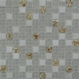 Мозаика Bonаparte Ice Cube белая глянцевая 30x30