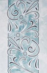 Декор Шаxтинская Плитка Муаре Бирюзовый 04 20x30