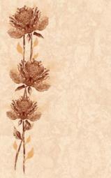 Вставка Golden Tile Каменный цветок бежевый  Г71301 250х400
