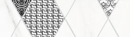 Бордюр Lasselsberger Каррарский мрамор гексагон 7.5x25 1501-0091