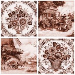 Декор Нефрит-керамика Акварель 04-03-1-14-03-15-136-3 20x20 Коричневый