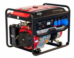 Генератор бензиновый Elitech СГБ 6500 Р 5000/5500 Вт ручной запуск