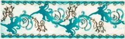 Декор Береза-керамика Магия Фриз зеленый 25х35