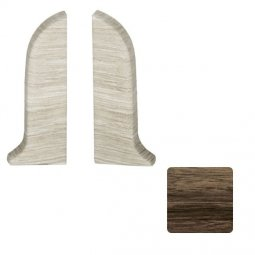 Заглушка торцевая левая и правая (блистер 2 шт.) Salag Орех Веноста 56