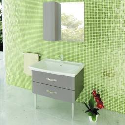 Зеркало-шкаф Comforty Рим-80 серый