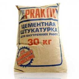Штукатурка Bergauf Praktik цементная для внутренних работ 30 кг