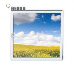 Окно ПВХ Rehau 600х600 мм одностворчатое О 3 стеклопакет