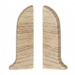 Заглушка торцевая левая и правая (блистер 2 шт.) Salag Дуб Песочный 56