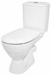 Унитаз -компакт Керамин Палермо горизонтальный выпуск жесткое сиденье белый