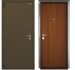 Стальная дверь Гардиан Фактор К медный антик/темный орех левая замок Г1211  980x2050 мм
